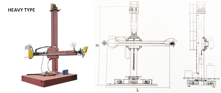 3000mm lifting column and boom automatic surfacing equipment