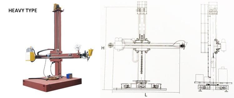 CE movable and rotatable automatic polishing machine