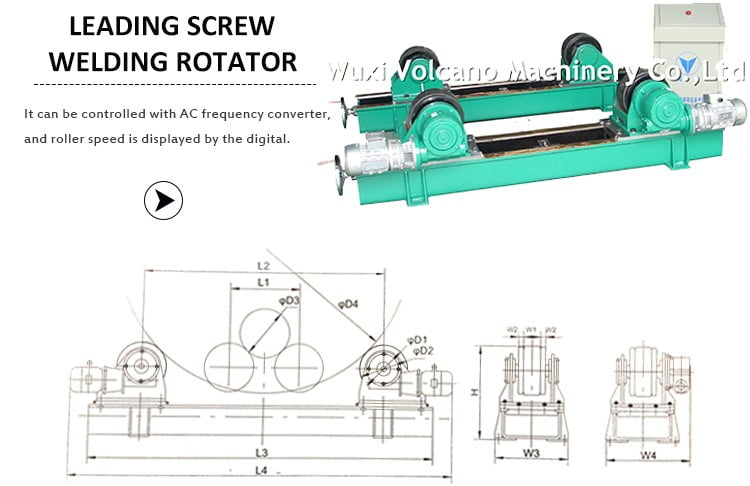 Single Drive Conventional pipe turning rolls with track